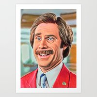 anchorman Art Prints featuring ANCHORMAN by i live