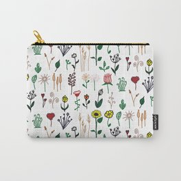 Country Garden Pattern Carry-All Pouch