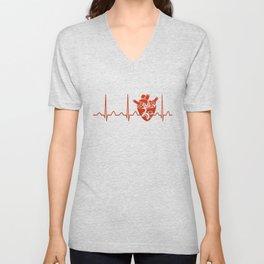 Biomedical Engineer Heartbeat Unisex V-Neck