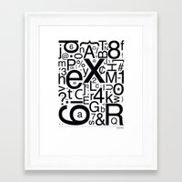 helvetica Framed Art Prints featuring HELVETICA by Typography Photography™