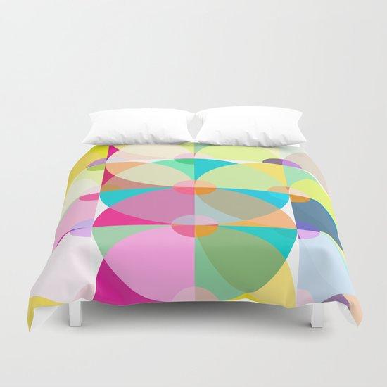 pastel circles Duvet Cover