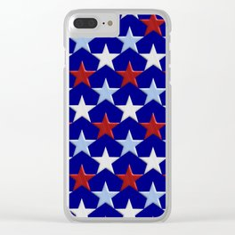 Patriotic Stars Clear iPhone Case