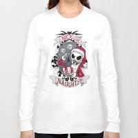 scary Long Sleeve T-shirts featuring Scary Santa by Dooomcat