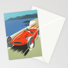 Vintage Racing Car Stationery Cards