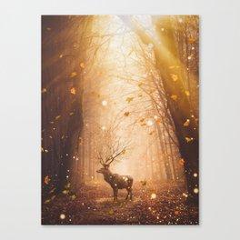 Morning Magic Deer by GEn Z Canvas Print