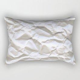 Crumpled Paper Rectangular Pillow