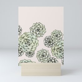 Rosette Succulents Mini Art Print