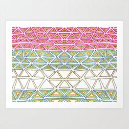 try angular symmetry Art Print