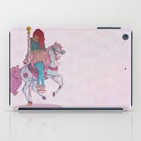 carousel iPad Cases featuring Carousel by Leigh Wortley