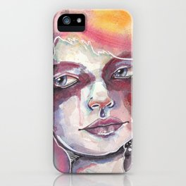 Deep space watercolor iPhone Case