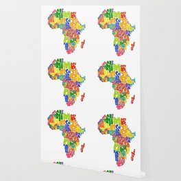 African Continent Cloud Map Wallpaper