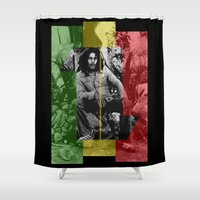 marley Shower Curtains featuring One Love by Naked N Pieces