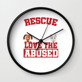 Rescue Animal Rescue Dogs Pet Owners Veterinary Animal Lovers Gifts Wall Clock