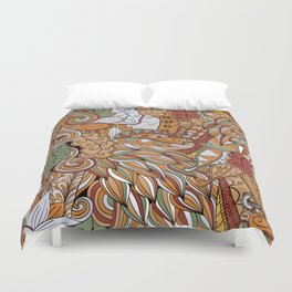 Stylized Boho Bulb Pattern Duvet Cover