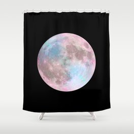 Iridescent Dark Moon Shower Curtain