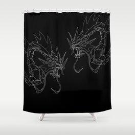 BLACK Gyarados Mech version Shower Curtain