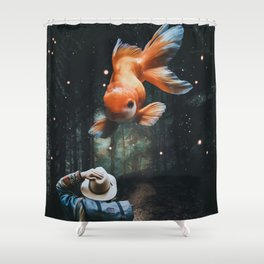 Chinese Goldfish in Forest by GEN Z Shower Curtain