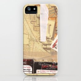 Masking Tape Brown Hooters Collage iPhone Case