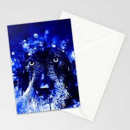 wire haired dachshund dog wsdb Stationery Cards