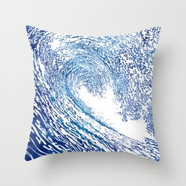 Pacific Waves IV Throw Pillow