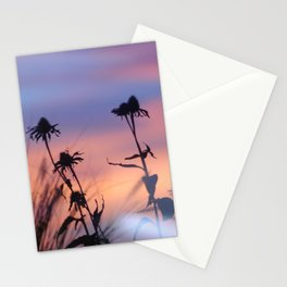 LOOK OUTSIDE - Flowers & Sunset #1 #art #society6 Stationery Cards