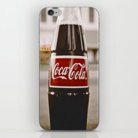 coke iPhone & iPod Skins featuring Roadside coke by Vorona Photography