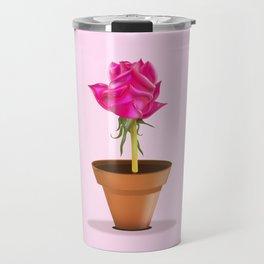 Little Pink Rose Travel Mug