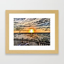 Puesta de Sol Tropical Framed Art Print