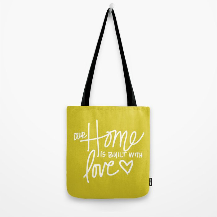 Home Built With Love Tote Bag
