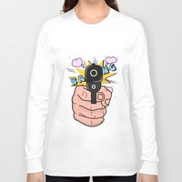 comics Long Sleeve T-shirts featuring gun comics  by mark ashkenazi