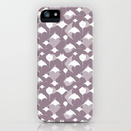 Sea of Cortez Lavender Grey Rays Pattern iPhone Case