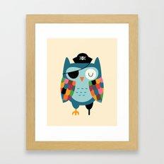 Captain Whooo Framed Art Print
