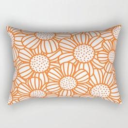 Field of daisies - orange Rectangular Pillow