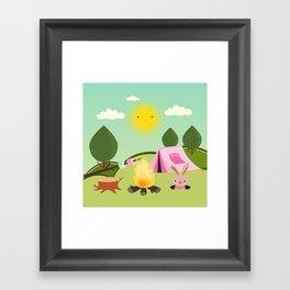 camping , outdoors , nursery decor , Framed Art Print