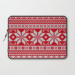 Winter knitted pattern 3 Laptop Sleeve