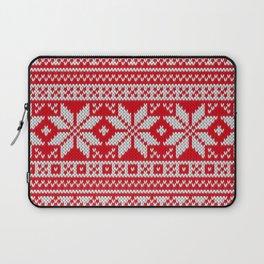 Winter knitted pattern 3 Laptop Sleeve