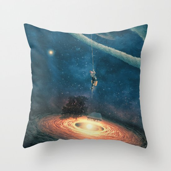My dream house is in another galaxy Throw Pillow