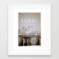 seoul Framed Art Prints featuring SEOUL by Sara Ahlgren
