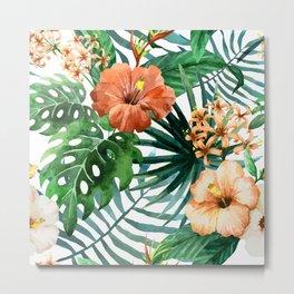 Tropical Floral Watercolor Var. 6 Metal Print