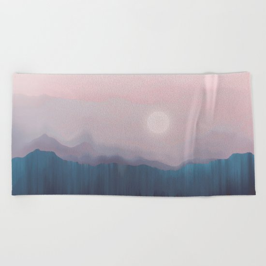 Pink Fog Beach Towel