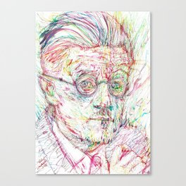JAMES JOYCE portrait Canvas Print