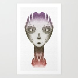 colorful dead Art Print