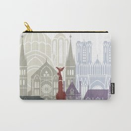 Reims skyline poster Carry-All Pouch