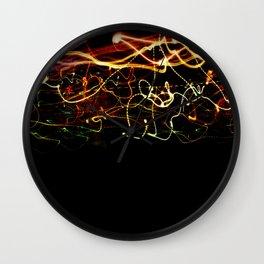 Night lights abstract Wall Clock