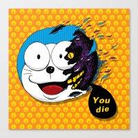 doraemon Canvas Prints featuring Doraemon dead by pexkung