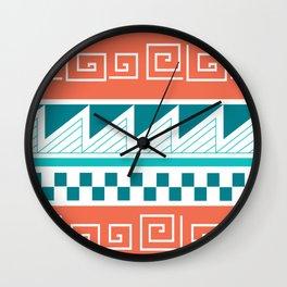 Patterns: Mimbres Coral Wall Clock