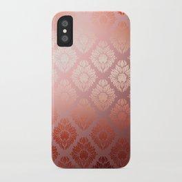 """Millennial Pink Damask Pattern"" iPhone Case"