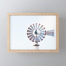 Antique Windmill on the Farm Framed Mini Art Print