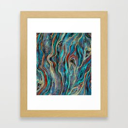 Colorful wavy abstraction Framed Art Print
