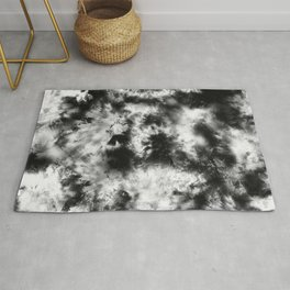 Black and White Tie Dye & Batik Rug
